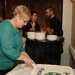 WFPK Program Director Stacy Owen cut the celebration cake.