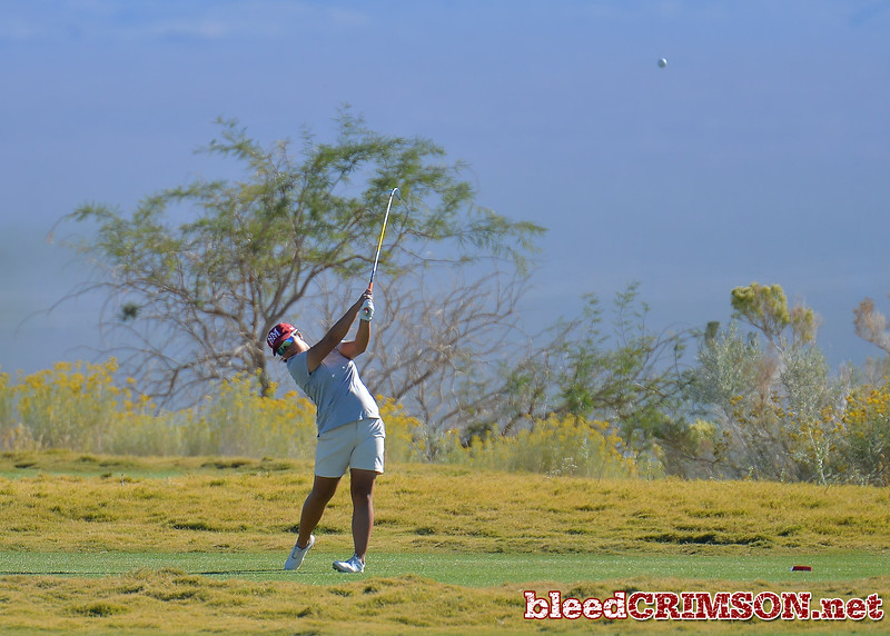 LAS VEGAS, NV - OCTOBER 22:  Pun Chanachai of the New Mexico State Aggies tees off on the fifteenth hole during the 2017 Las Vegas Collegiate Showdown at the Boulder Creek Golf Course in Boulder City, Nevada.  (Photo by Sam Wasson)