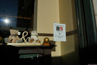 Barnes & Noble had put this up inside their window the night before. Why don't music venues do this for shows?