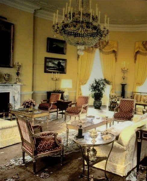 Yellow Oval Room: White House Tour