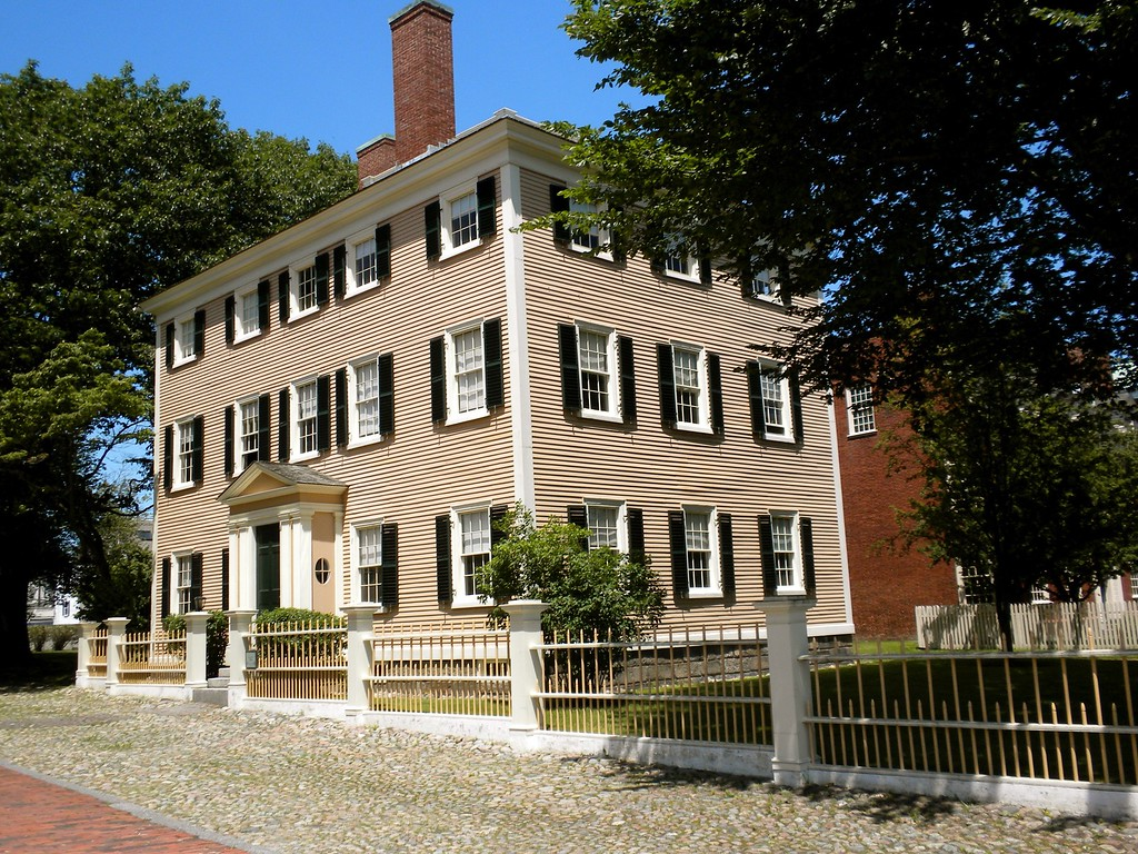 Custom House and a half house owned by a local merchant Tours conducted by a National Park Service Ranger by Doug