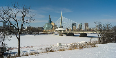 Winnipeg city scape from the Red River