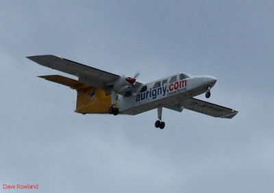 Aurigny G-FTFS over Eastleigh on 18th August 2010.
