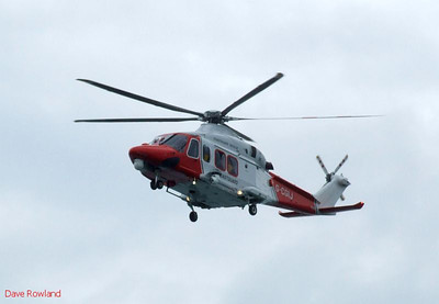 Coastguard helicopter G-CGIJ over Gosport during Navy Days, 30th July 2010.