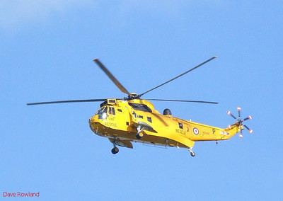 RAF rescue helicopter X2599 passes over Gosport on 9th April 2010.