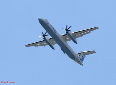 Flybe G-JECL over Eastleigh on 18th August 2010.