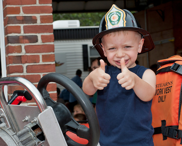 Two and a half year old Max Bowman gave the event two thumbs up.