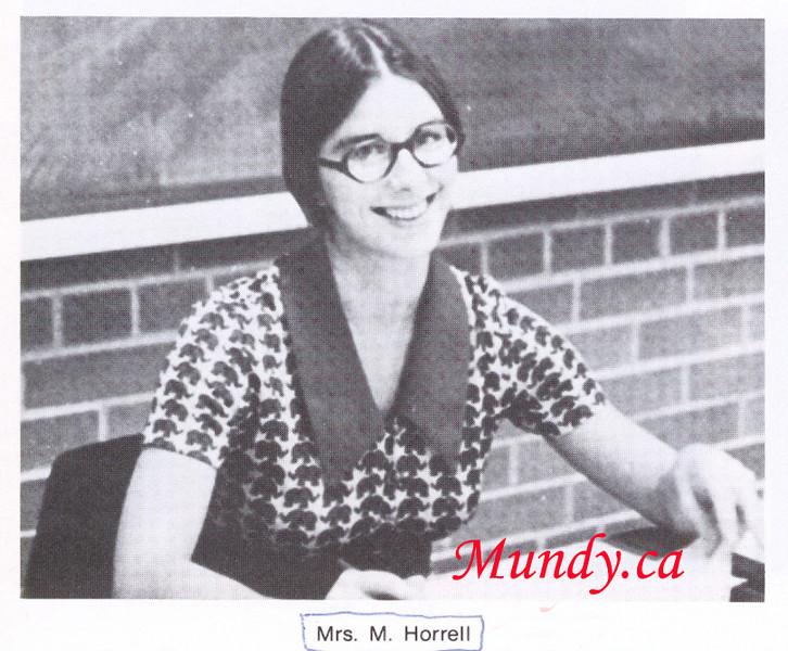 Mrs. Horrell, my favourite Math teacher ...