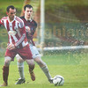 Atrocious conditions during the Ross Cup final between Portree and Sleat.