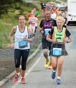 Braes runner Tracey Logan has Fiona Rennie from Carnegie Harriers for company.