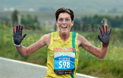 Third placed lady Avril Pearson from Livingston, poses for the camera.