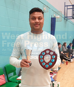 Mens singles winner - Kedar Paul