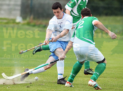 Jordan Murchison looks to get past Beauly defender Ryan Tillman.