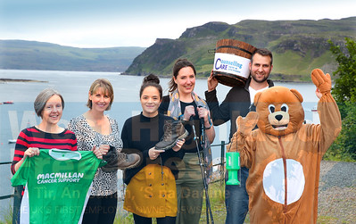 Ready for the off - the team from Campbell, Stewart MacLennan and Co who will tackle six Munros in six days, starting next Monday (9/8) , Faye MacLeod, Sharon Munro, Holly Cullen,  Sian Falconer, Kerry Lyall and Karen Waddell, Missing from our photo is Kathleen Duguid and Emma Stewart.