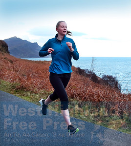 Ilana Paterson striding out on Saturday afternoon during the Braes Run.
