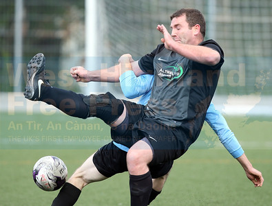 A controversial moment during the first half as John Murphy is clearly fouled in the box - no penalty!