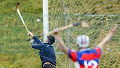 Iain MacLeod with a fine save late in the game as Kingussie pressed for an equaliser.