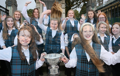 The windswept look wasn't a problem for the girls from the Nicolson as they celebrate their success on Tuesday.