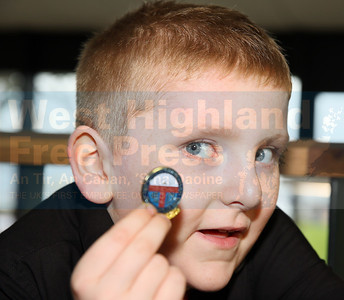 Ruaraidh MacLean from Mull, winner of the solo singing - fluent-8years.