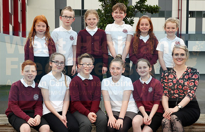 Mallaig Primaray school choir with conductor Sarah MacLeod.