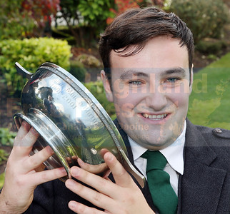 Alasdair Currie from Islay , winner of the Oran Mhor.