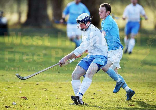 Ally 'Digg' MacDonald performed well against Scotland internationalist Kevin Bartlett.