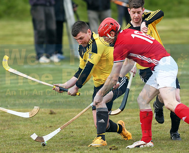 Kinlochshiel's four goal hero Duncan DA MacRae is closely monitored this time round.
