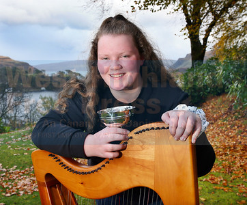Kathleen Macdonald from Bernisdale had a great day, winning the clarsach-beginners, fiddle-advanced and was also first in the Gaelic singing for High School pupils.