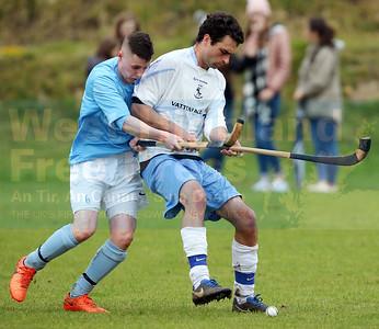 Stewart shields the ball well from Neil MacKenzie.