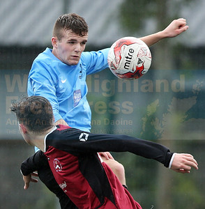 Ewan Campbell with a well-timed header for NW Skye.