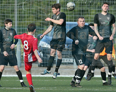 Up and over - a superb free-kick from Ben Yoxon for Sleat's second goal.