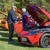 Old friends meet at the Car Club of New England show held at the Moses Scout Reservation in Russell Saturday.