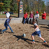 Scout Pack 272's Jonathan Turner, Jr and Benjamin Lamon play a game at the Moses Scout Reservation Saturday.