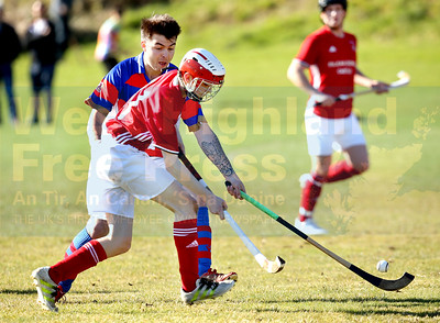 Duncan MacRae attempts to break clear from Ryan Borthwick
