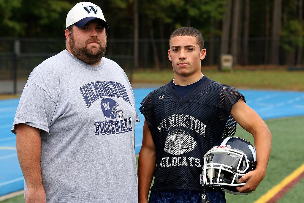 . Wilmington High School running back John Kenney with Head Coach Craig Turner. SUN/JOHN LOVE
