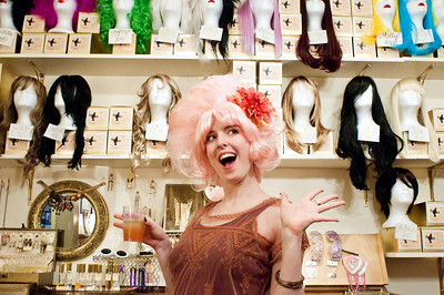 Look at all these wigs to choose from!