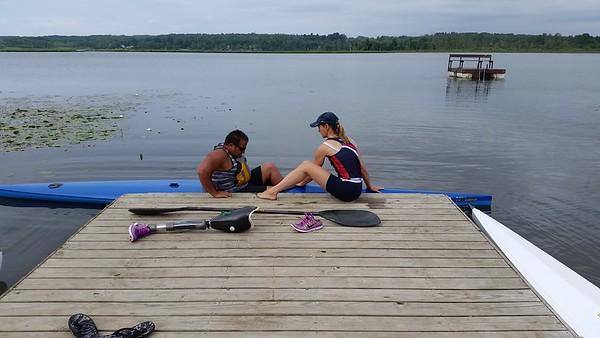 Para canoe-kayak-rowing camp July 2016