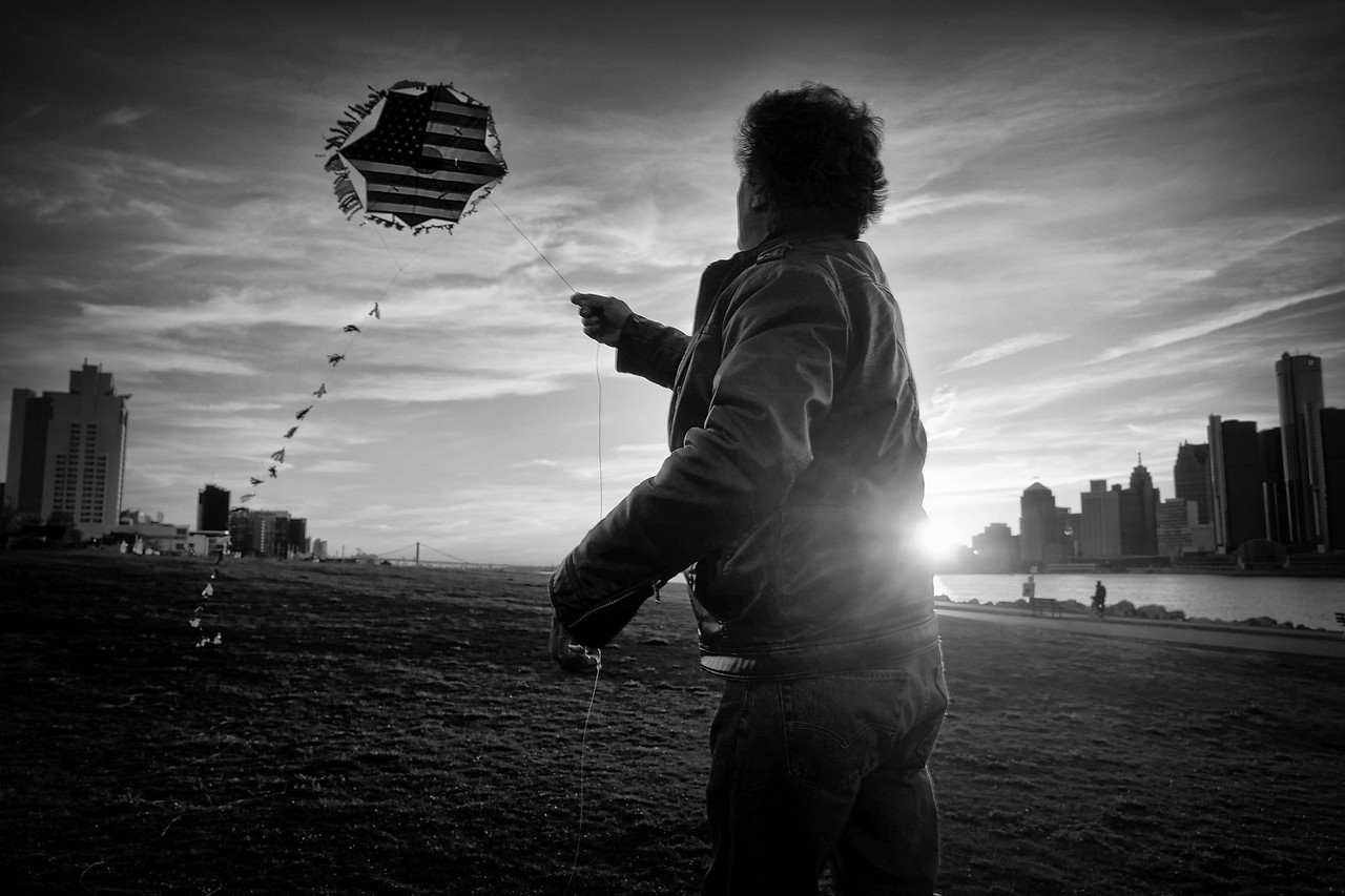 Man with a kite