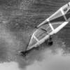 Windsurfing Ho'okipa in B&W