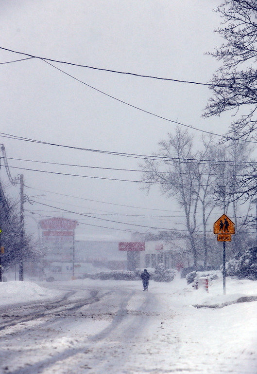 . View looking east on Middlesex Street, heading toward Wood Street,  in Lowell. (SUN/Julia Malakie)
