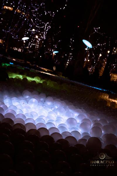 Winter Lights Festival at Canary Wharf London City.