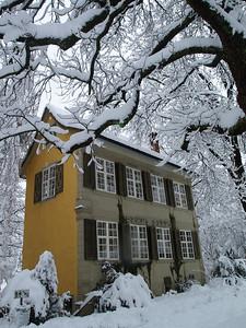 Barockhäuschen Stadtpark im Wintermärchen-Kleid