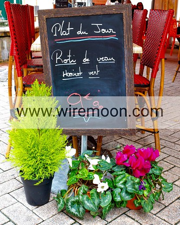 Cafe Menu Board, Antibes.