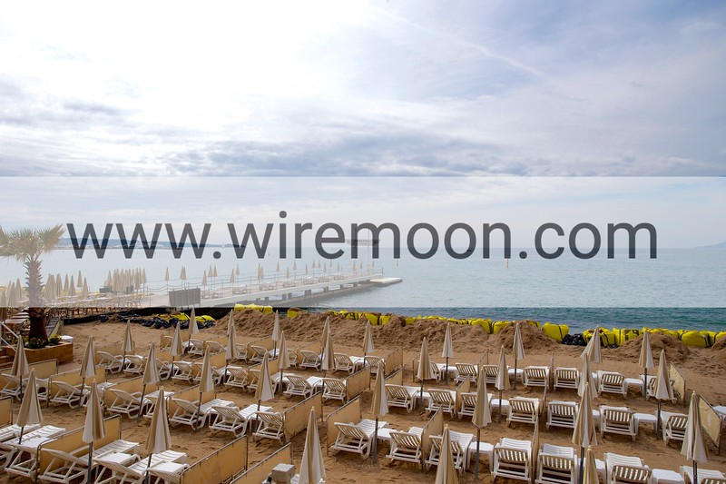 Carlton Hotel beach, , Cannes, France.