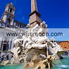 Fontana dei Quattro Fiumi by Gian Lorenzo Bernini - Piazza Navona, Rome.