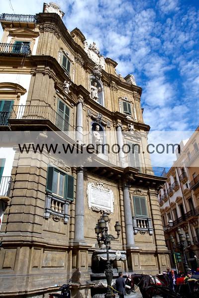 Quattro Canti in Maqueda Street, Palermo.