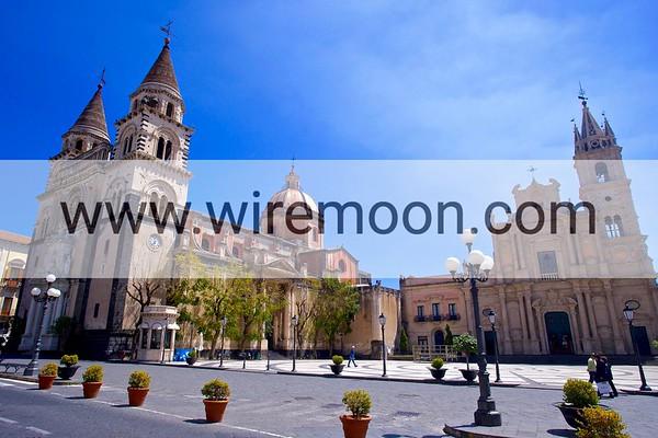 Duomo Square , Acireale.