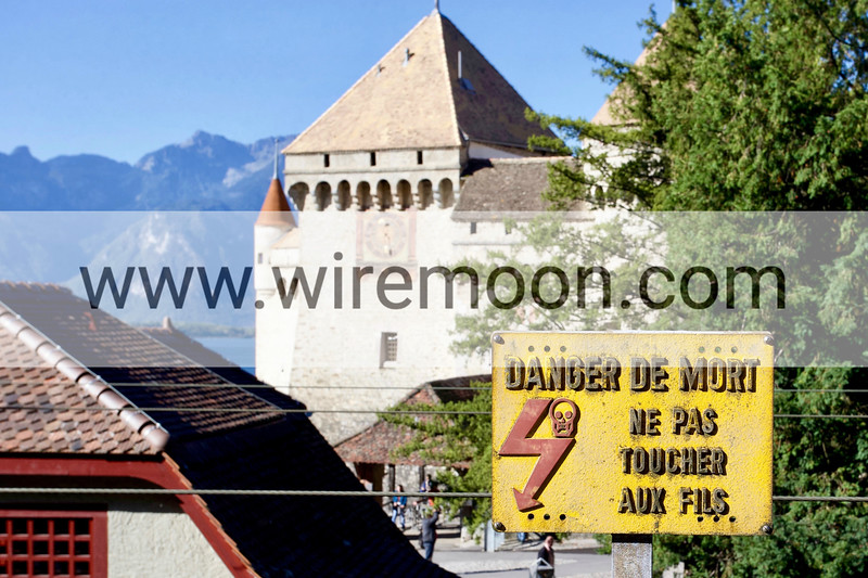 Chillon Castle, Veytaux, Vaud, Switzerland.