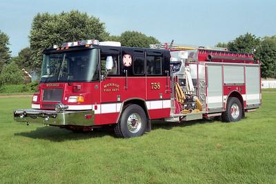 MONROE FD  ENGINE 758  1998  PIERCE QUANTUM   1750-750