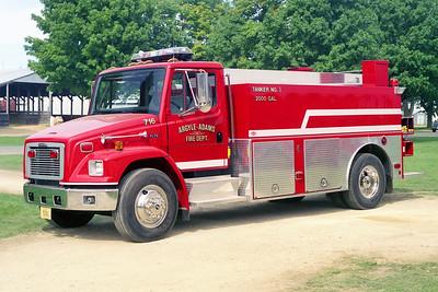 ARGYLE-ADAMS FD  TANKER 716  FREIGHTLINER FL70 - DANKO   60-2000   MONROE FIRE SCHOOL